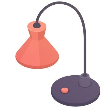 desk lamp แปลว่า โคมไฟตั้งโต๊ะ