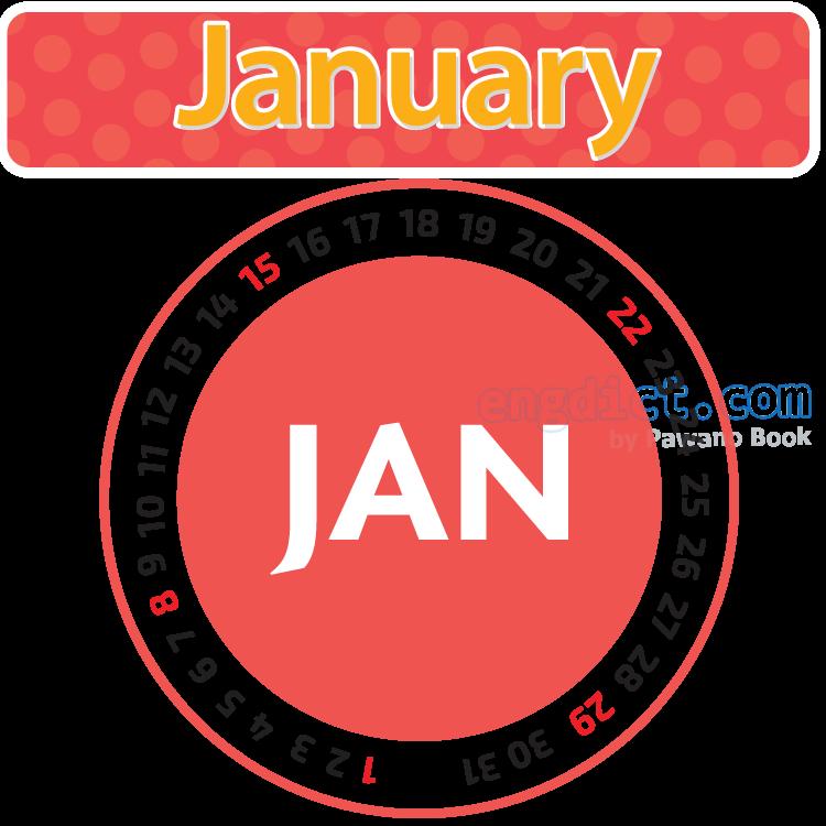 January แปลว่า เดือนมกราคม