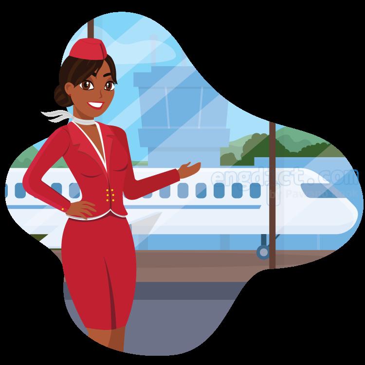 air hostess แปลว่า พนักงานต้อนรับบนเครื่องบิน