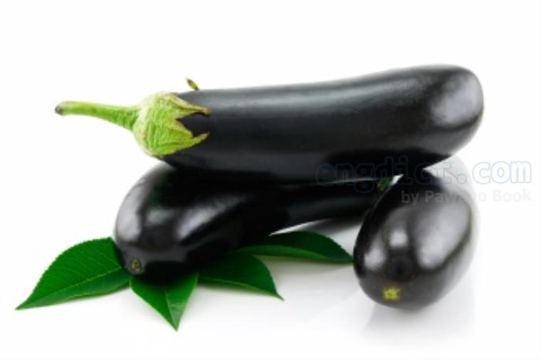 aubergine แปลว่า มะเขือยาวสีม่วงเข้ม