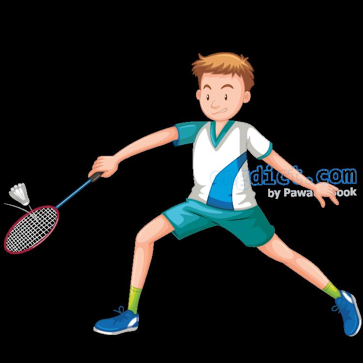 badminton แปลว่า กีฬาแบดมินตัน