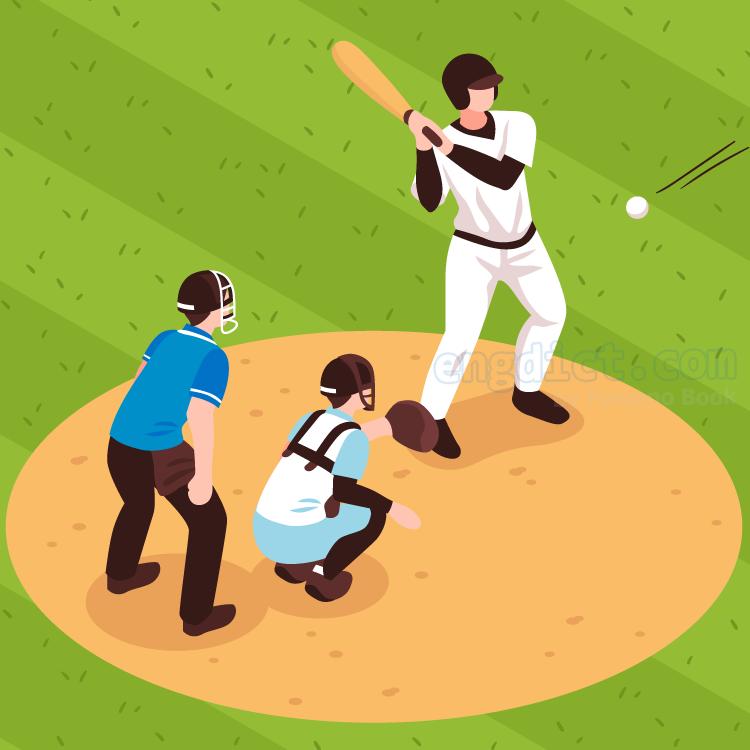 baseball court แปลว่า สนามเบสบอล