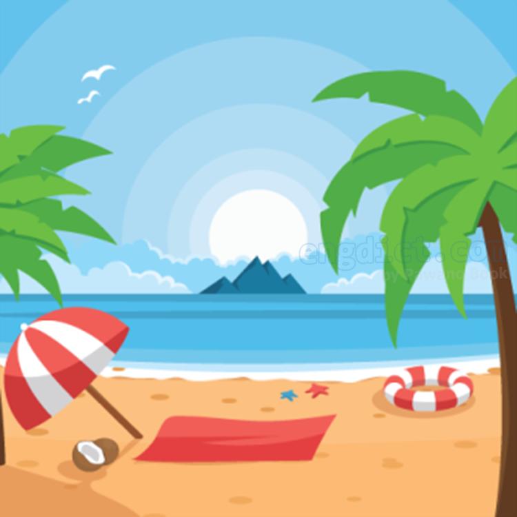 beach แปลว่า ชายหาด