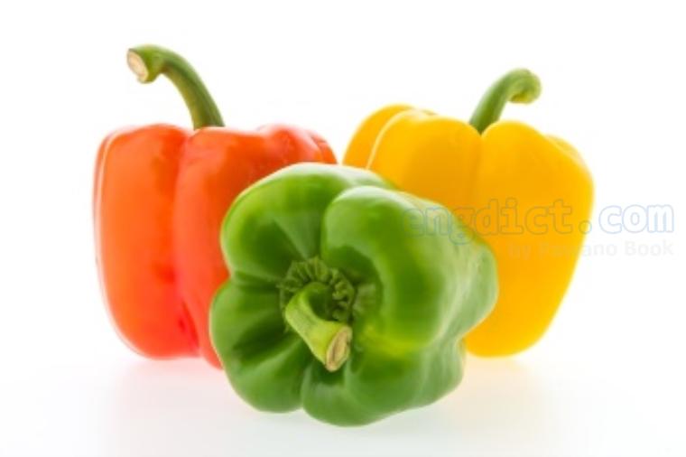 bell pepper แปลว่า พริกหวาน