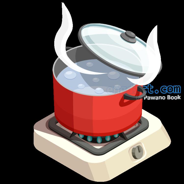 boil in hot water แปลว่า ต้มในน้ำเดือด