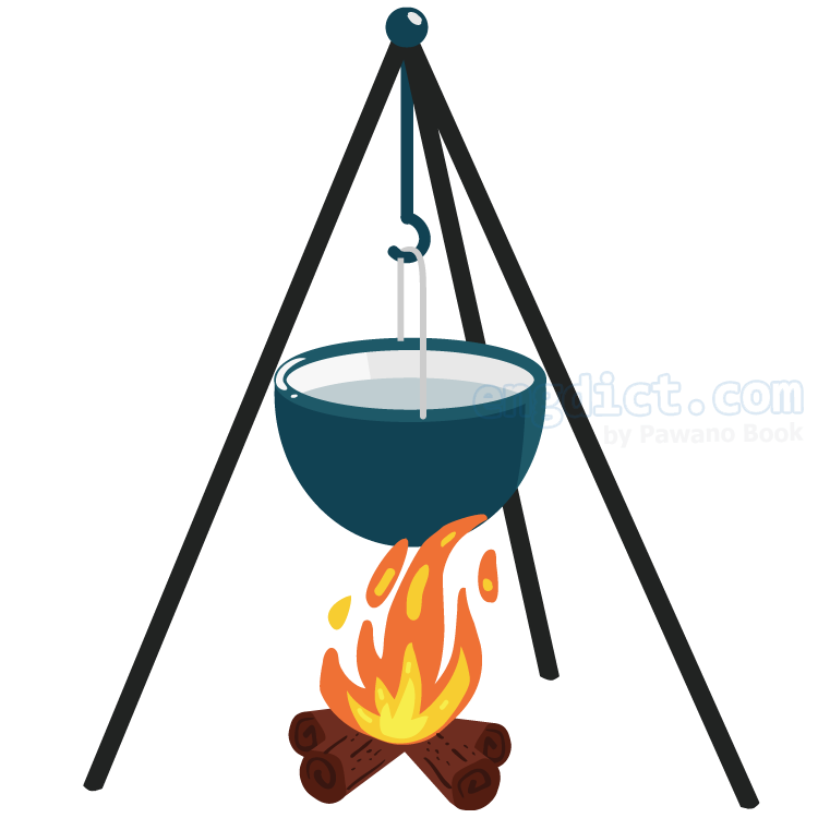 camp pot แปลว่า หม้อสนาม