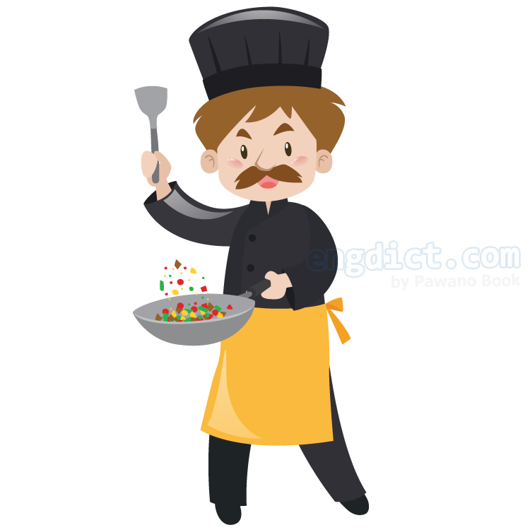 chef แปลว่า หัวหน้าพ่อครัว