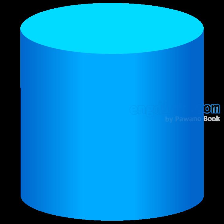 cylinder แปลว่า ทรงกระบอก