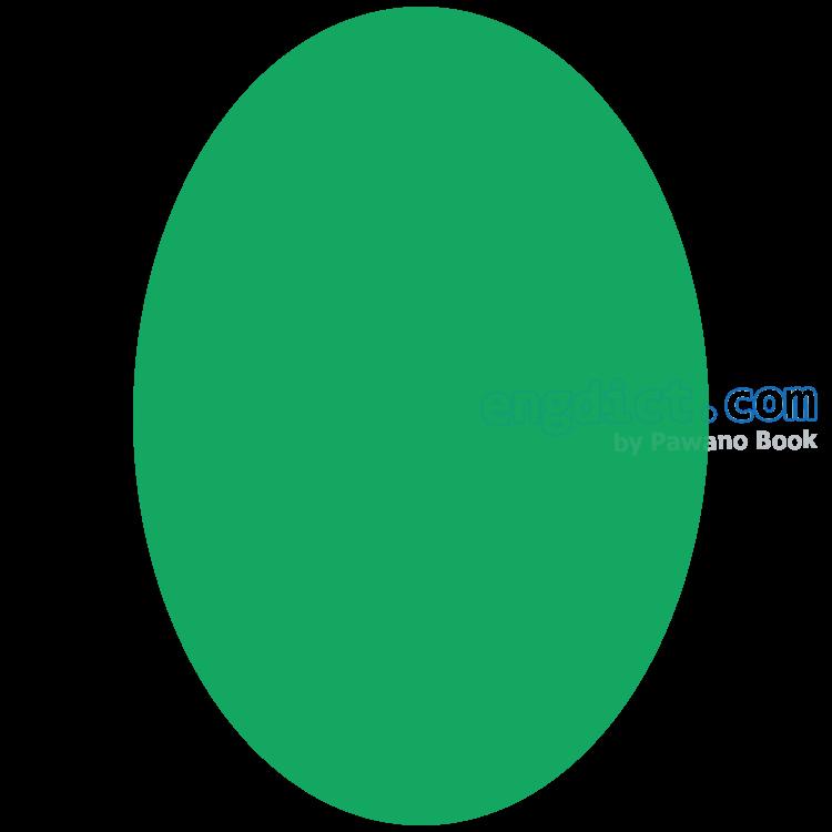 ellipse แปลว่า รูปวงรี