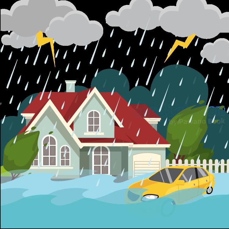 flood แปลว่า น้ำท่วม