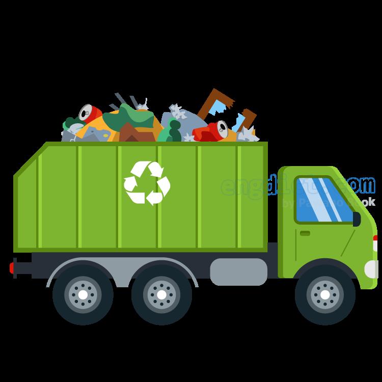 garbage truck แปลว่า รถขนขยะ