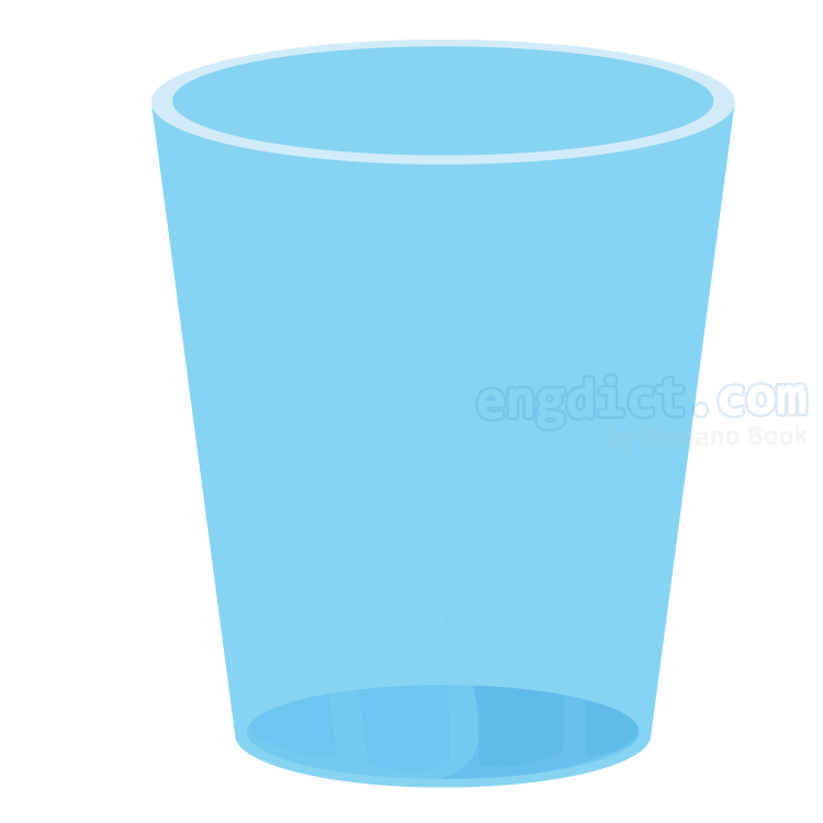 glass แปลว่า แก้วน้ำ
