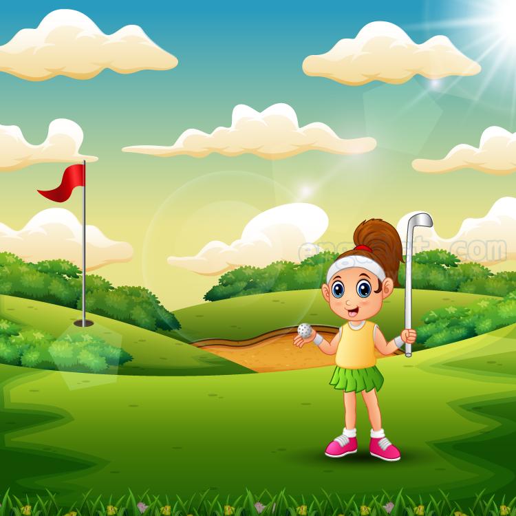golf court แปลว่า สนามกอล์ฟ