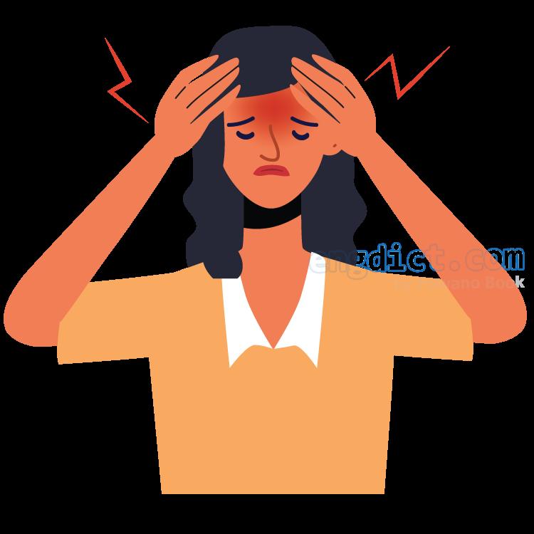 headache แปลว่า อาการปวดศีรษะ