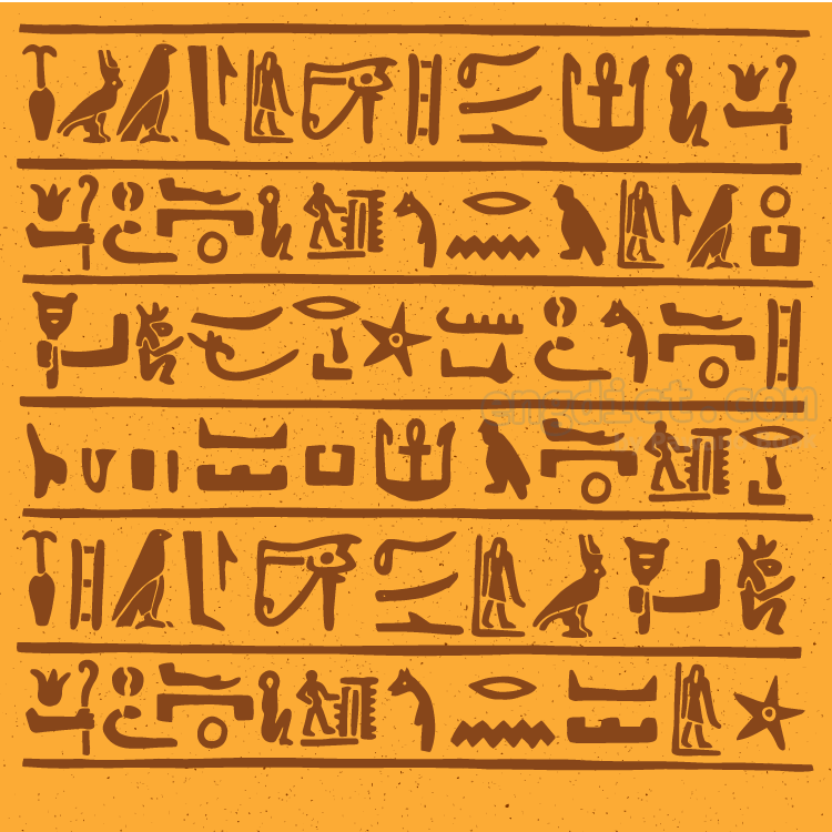 hieroglyphics แปลว่า อักษรหรือสัญลักษ์อียิปต์โบราณ