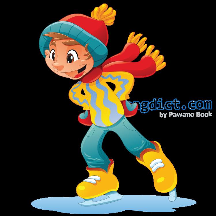 ice skating แปลว่า กีฬาสเก็ตน้ำแข็ง