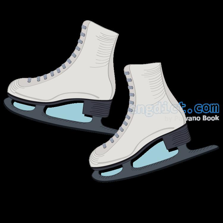 ice skate แปลว่า รองเท้าสเกตน้ำแข็ง