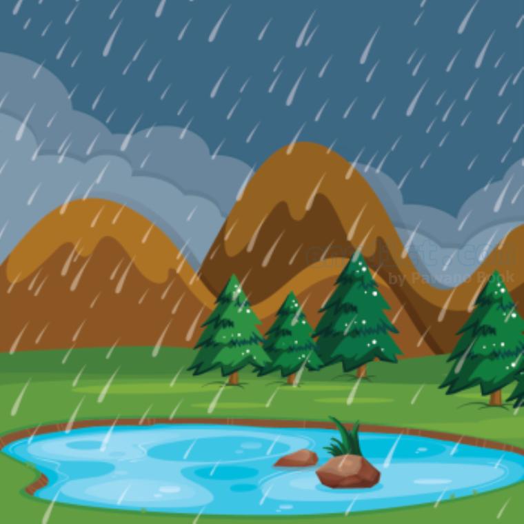 isolated rain แปลว่า มีฝนเป็นบางแห่ง