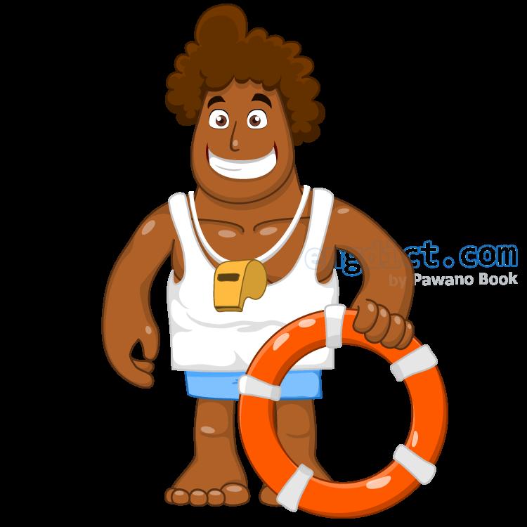 lifeguard แปลว่า เจ้าหน้าที่ช่วยชีวิตคนตกน้ำ