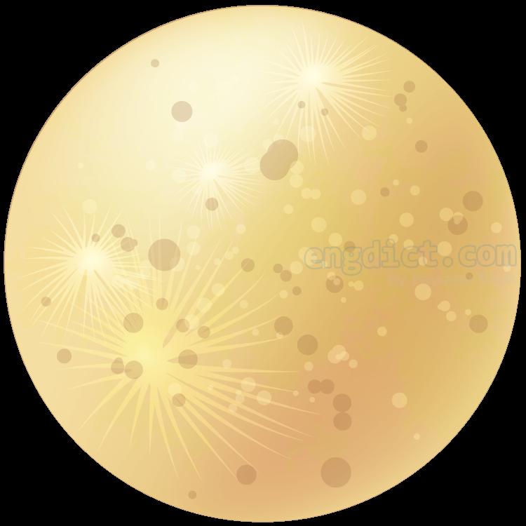 moon แปลว่า ดวงจันทร์