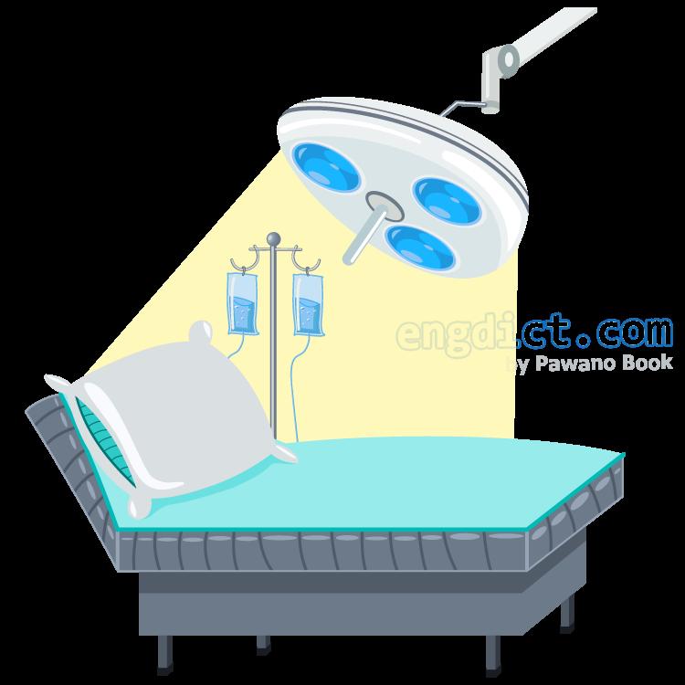 operating room แปลว่า ห้องผ่าตัด