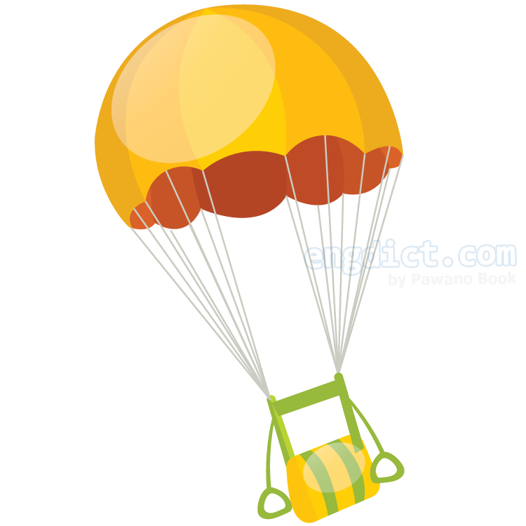 parachute แปลว่า ร่มชูชีพ