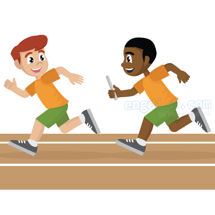 relay race แปลว่า กีฬาวิ่งผลัด