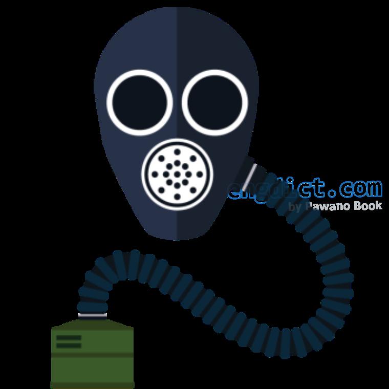 respirator แปลว่า หน้ากากป้องกันก๊าซพิษ