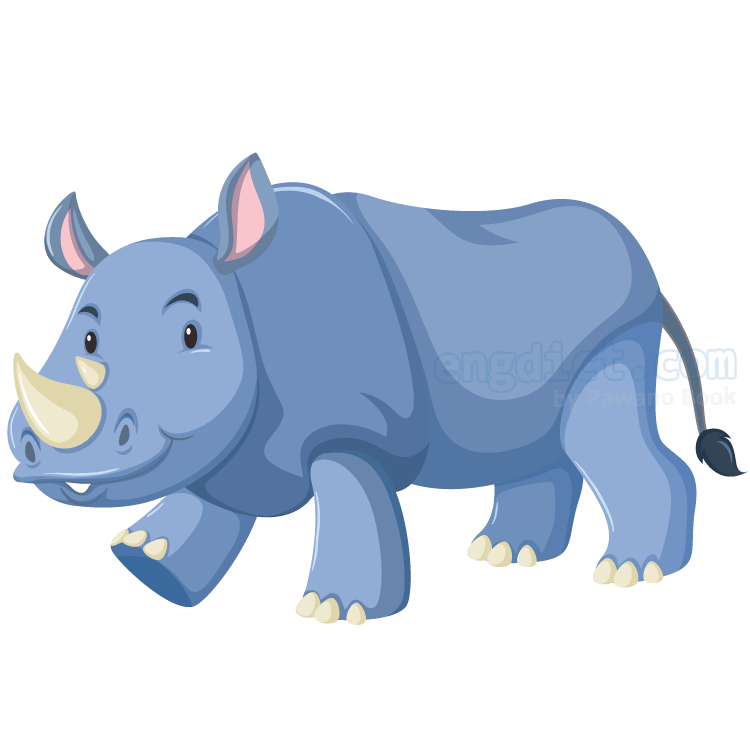 rhinoceros แปลว่า แรด