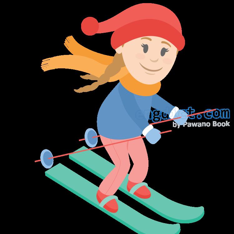 skiing แปลว่า กีฬาเล่นสกี