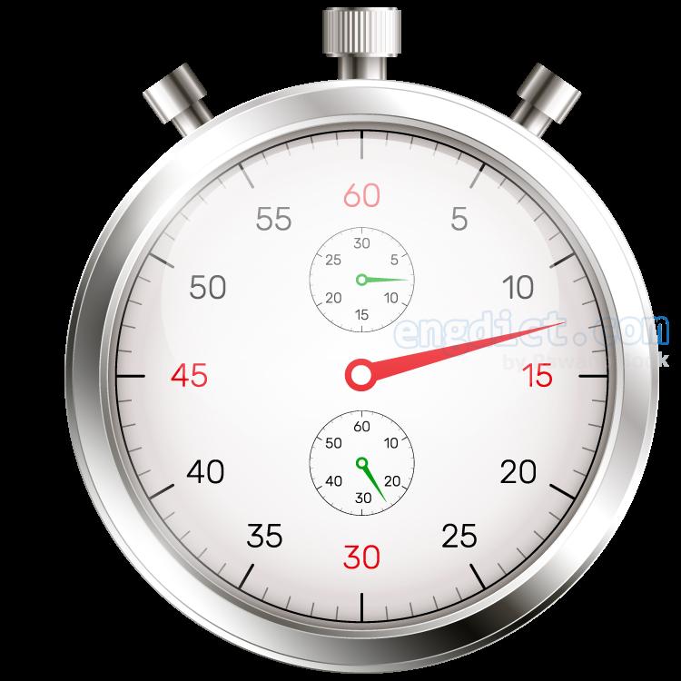 stopwatch แปลว่า นาฬิกาจับเวลา