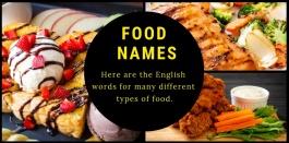 ศัพท์อังกฤษเรียกชื่อรายการอาหารและเมนูอาหาร